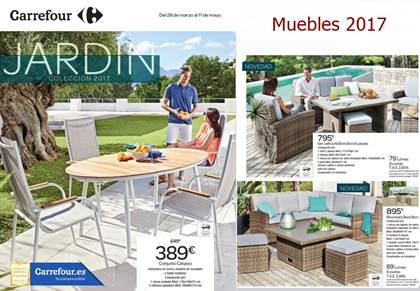 Carrefour catalogo muebles de jardin primavera 2017 for Muebles resina carrefour