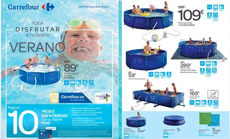 Carrefour catalogo piscinas barbacoas muebles verano for Piscinas infantiles carrefour