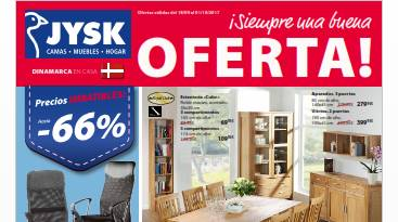 Jysk catalogo del 18 septiembre 2017 muebles y accesorios Muebles jysk catalogo